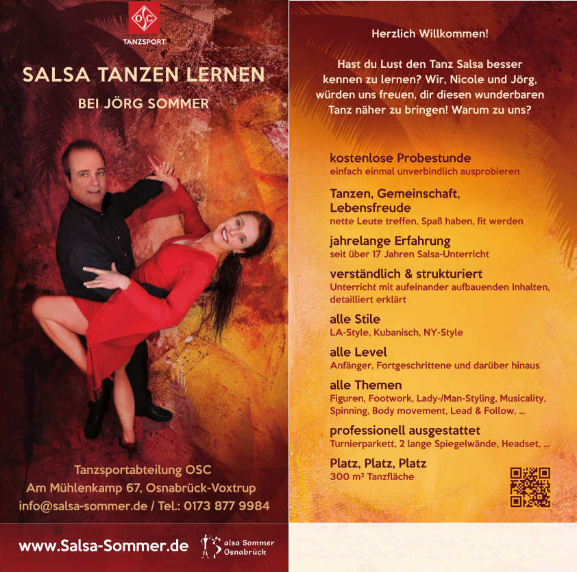 Unser neuer Salsa-Flyer designed by Alice.